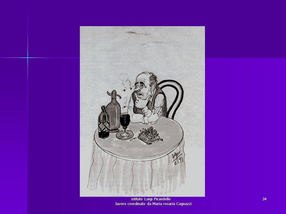 istituto Luigi Pirandello lavoro coordinato da Maria rosaria Cagnazzi 35 Bevitore gregario: corrisponde all alcolista da bar o da trattoria di paese, che di rado perde totalmente il controllo: ingerisce grandi quantità di alcol, ma riesce a smaltirle nelle serate in compagnia.