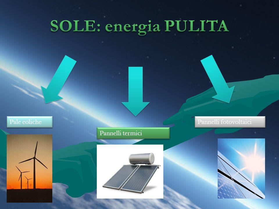 Pale eoliche Pannelli termici Pannelli fotovoltaici