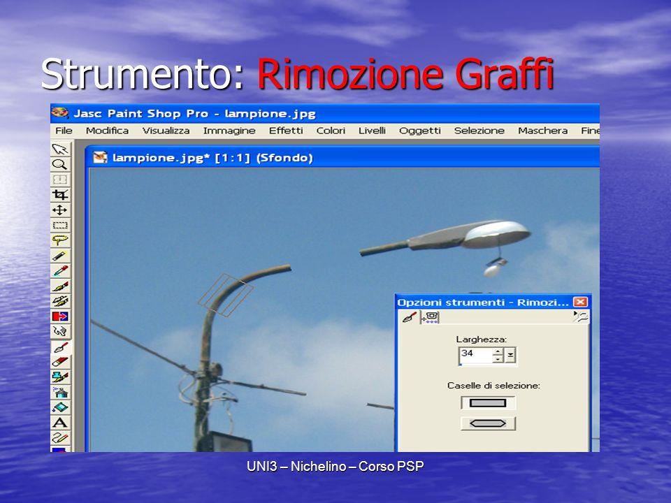 UNI3 – Nichelino – Corso PSP Strumento: Rimozione Graffi