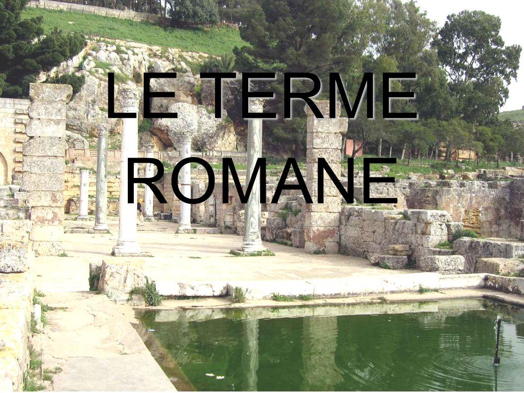 Le terme Le terme romane erano degli edifici pubblici con degli impianti che oggi chiameremmo igienico-sanitari.