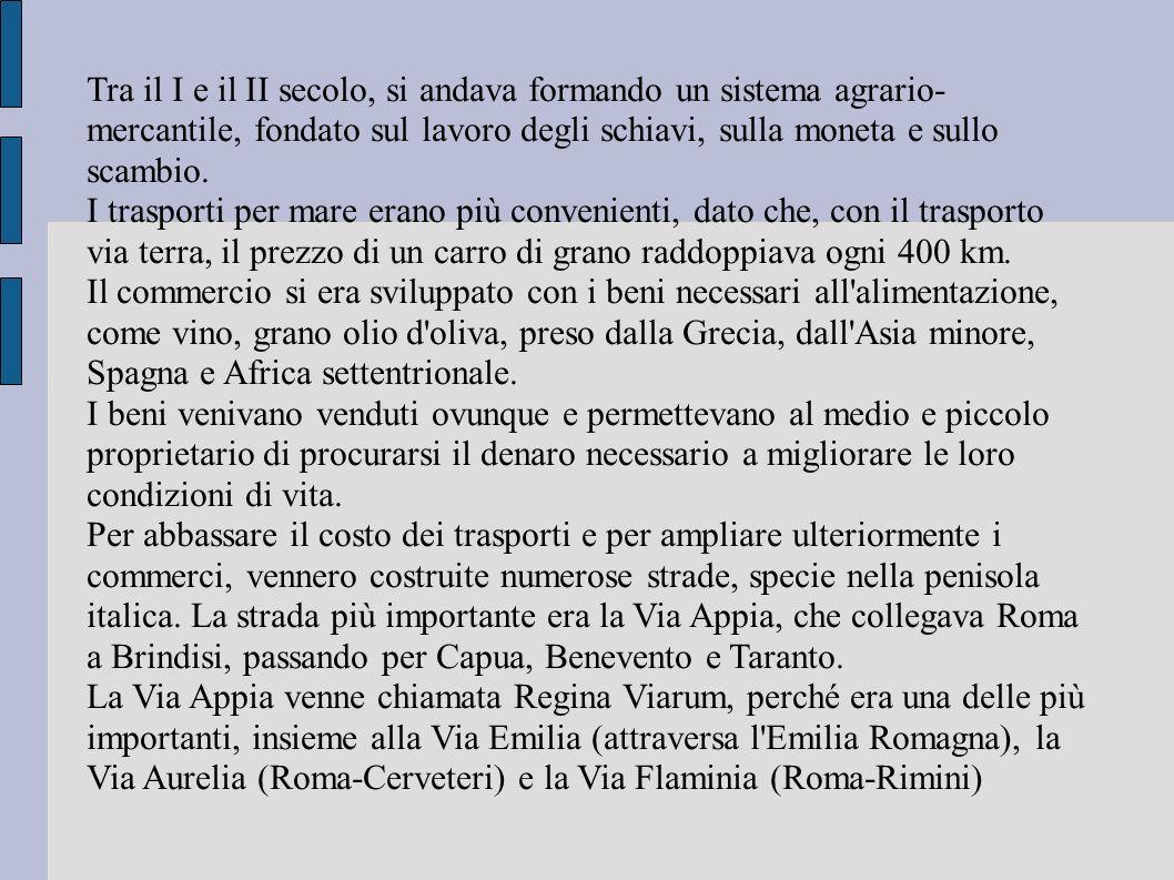 Strade principali della penisola italiana.