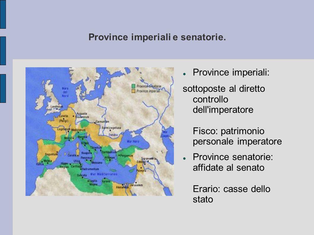 Province imperiali e senatorie.