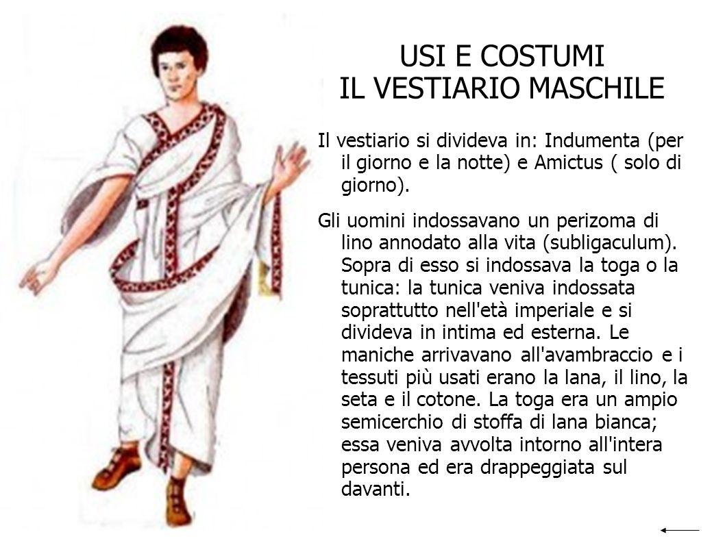 USI E COSTUMI IL VESTIARIO FEMMINILE Le donne indossavano il perizoma e una fascia per il seno (strophium).