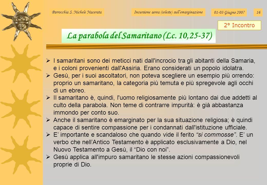 I samaritani sono dei meticci nati dall'incrocio tra gli abitanti della Samaria, e i coloni provenienti dall'Assiria. Erano considerati un popolo idol