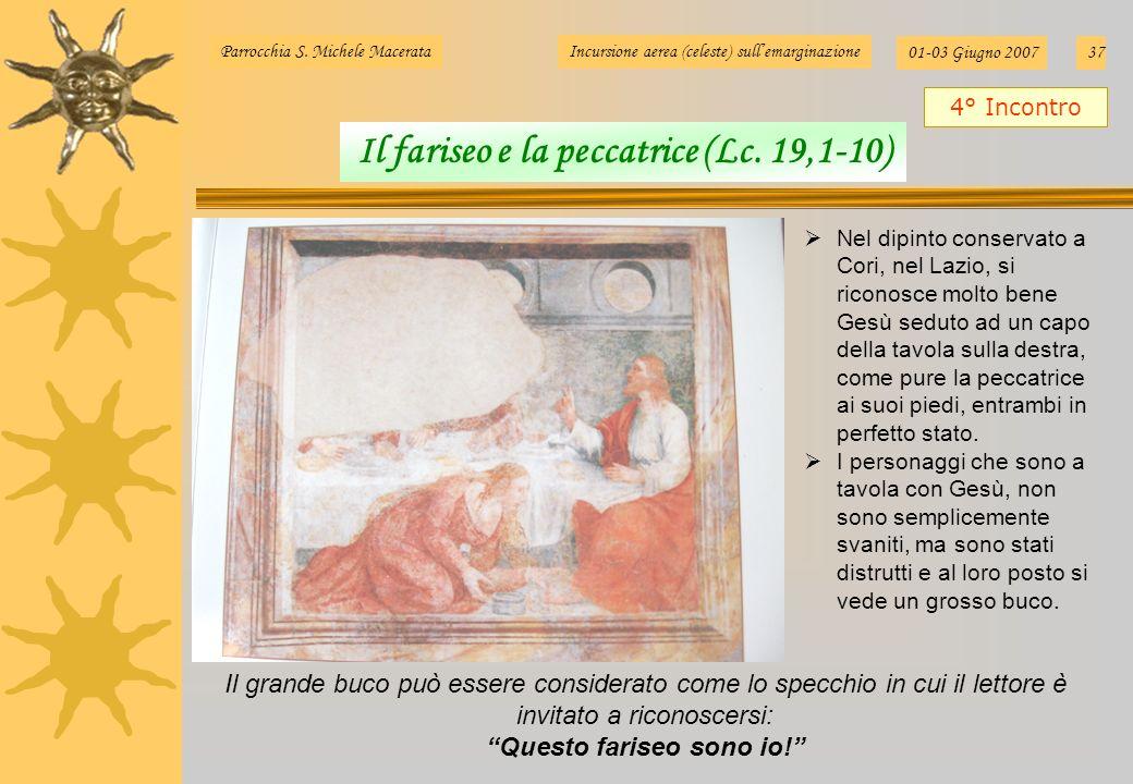 Nel dipinto conservato a Cori, nel Lazio, si riconosce molto bene Gesù seduto ad un capo della tavola sulla destra, come pure la peccatrice ai suoi pi