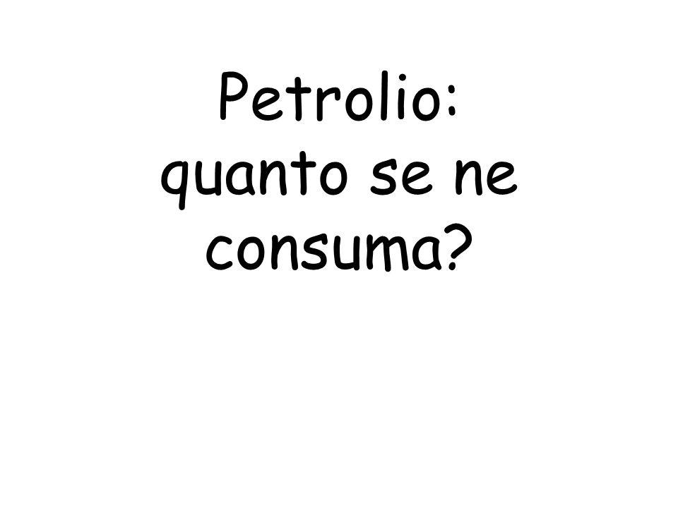 Petrolio: quanto se ne consuma?