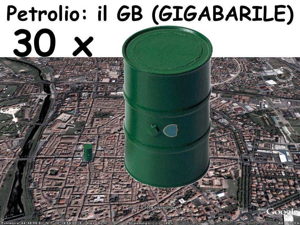 Petrolio: il GB (GIGABARILE) 30 x