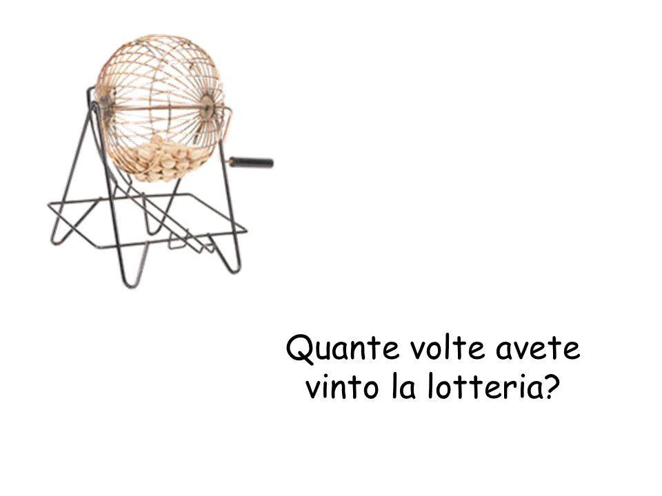 Quante volte avete vinto la lotteria?