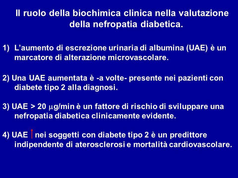 La nefropatia diabetica Insorge nel 35-45% dei casi con T1D Insorge nel 20-35% dei casi con T2D 1 a causa di insufficienza renale e trattamento dialit