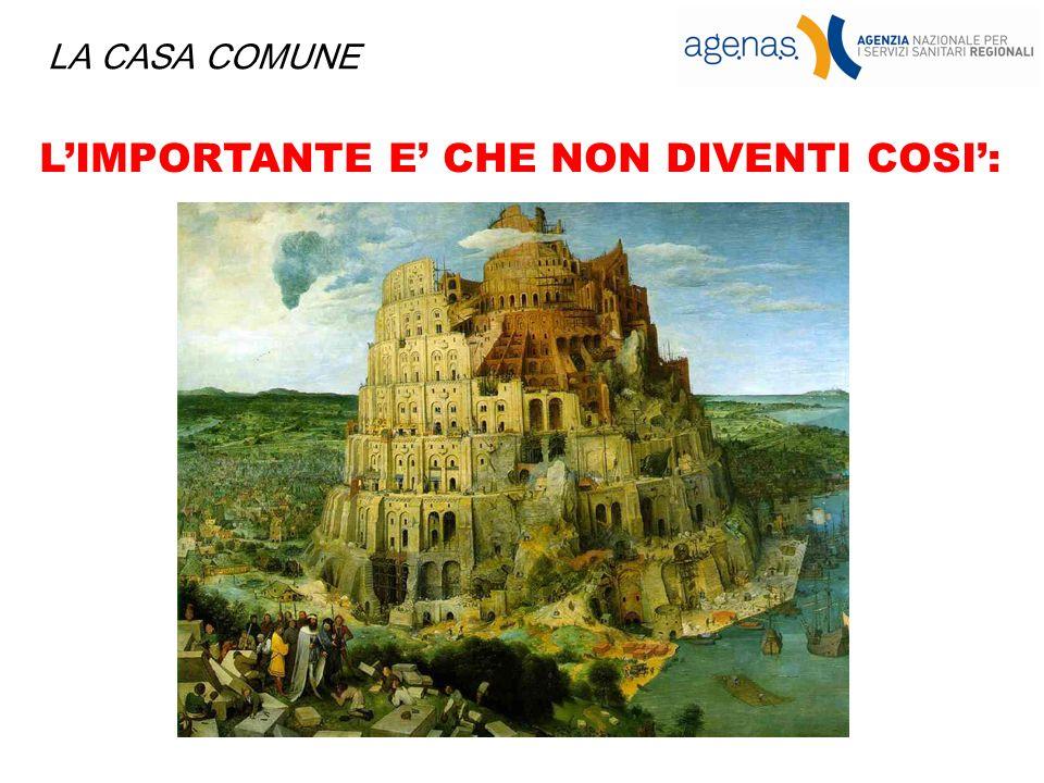 LIMPORTANTE E CHE NON DIVENTI COSI: LA CASA COMUNE