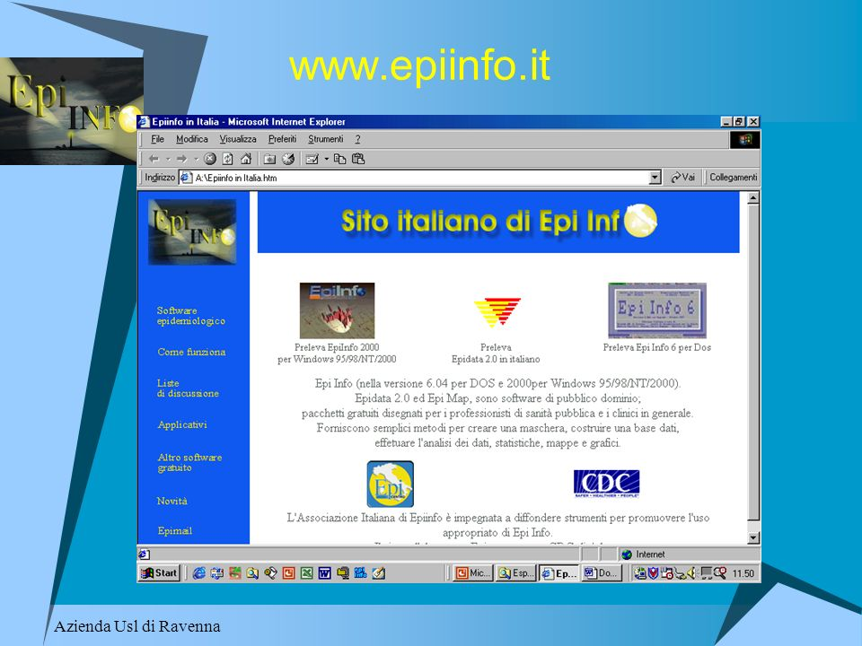 Azienda Usl di Ravenna www.epiinfo.it
