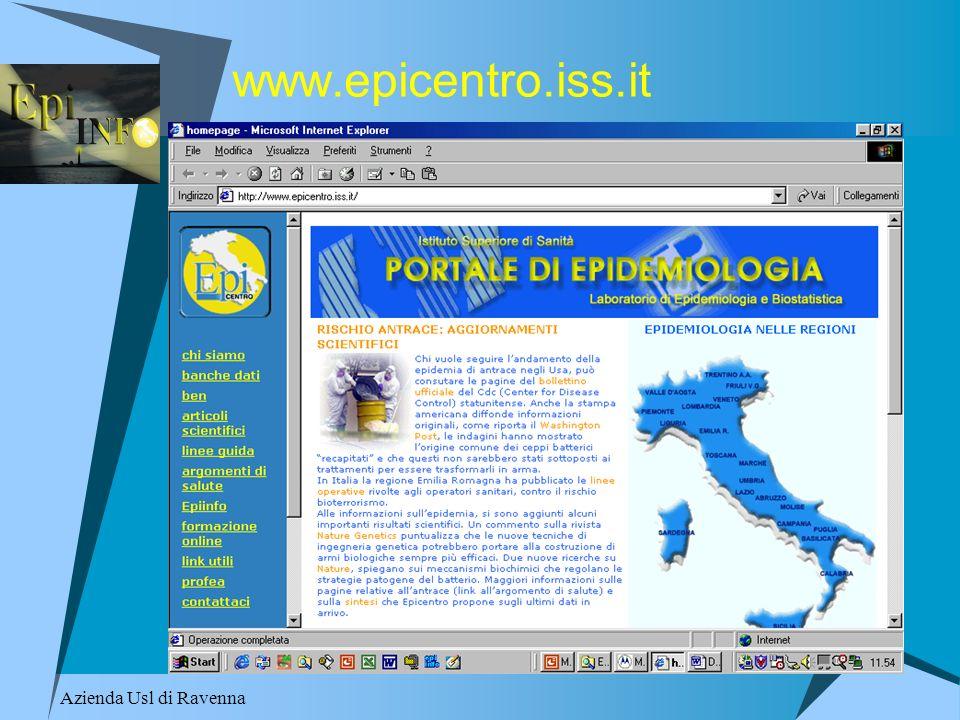 Azienda Usl di Ravenna www.epicentro.iss.it