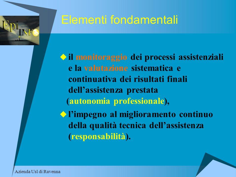 Azienda Usl di Ravenna Elementi fondamentali il monitoraggio dei processi assistenziali e la valutazione sistematica e continuativa dei risultati fina