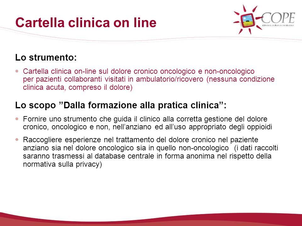 Cartella clinica on-line Come rivalutare il paziente Nel caso il punteggio dellMMSE sia < 14 (pz.