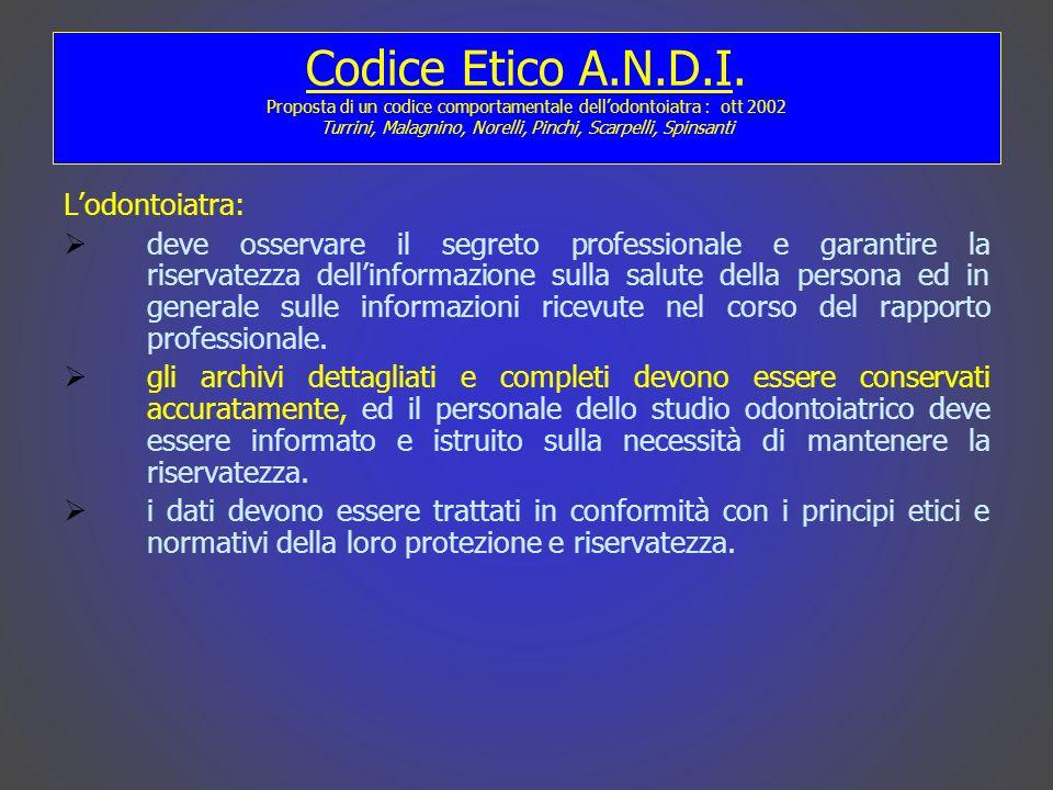 Codice Etico A.N.D.I.