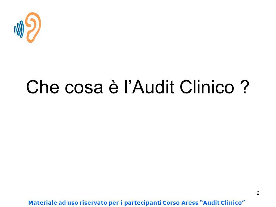 2 Che cosa è lAudit Clinico .