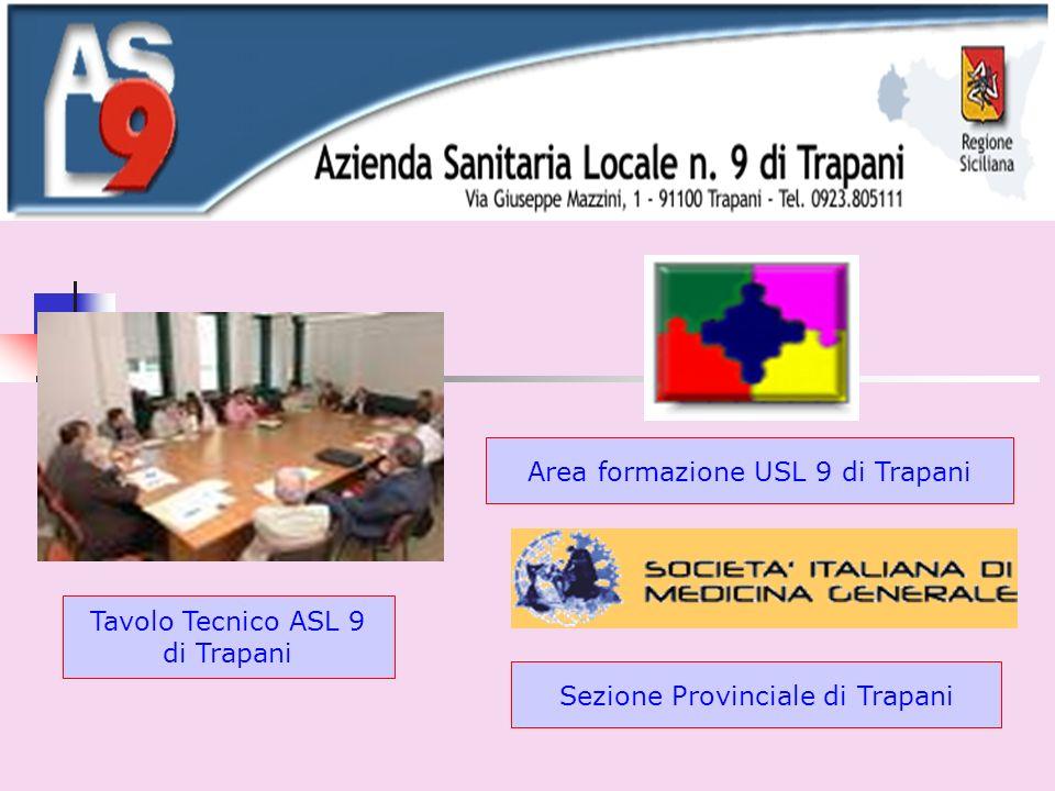 Area formazione USL 9 di Trapani Tavolo Tecnico ASL 9 di Trapani Sezione Provinciale di Trapani