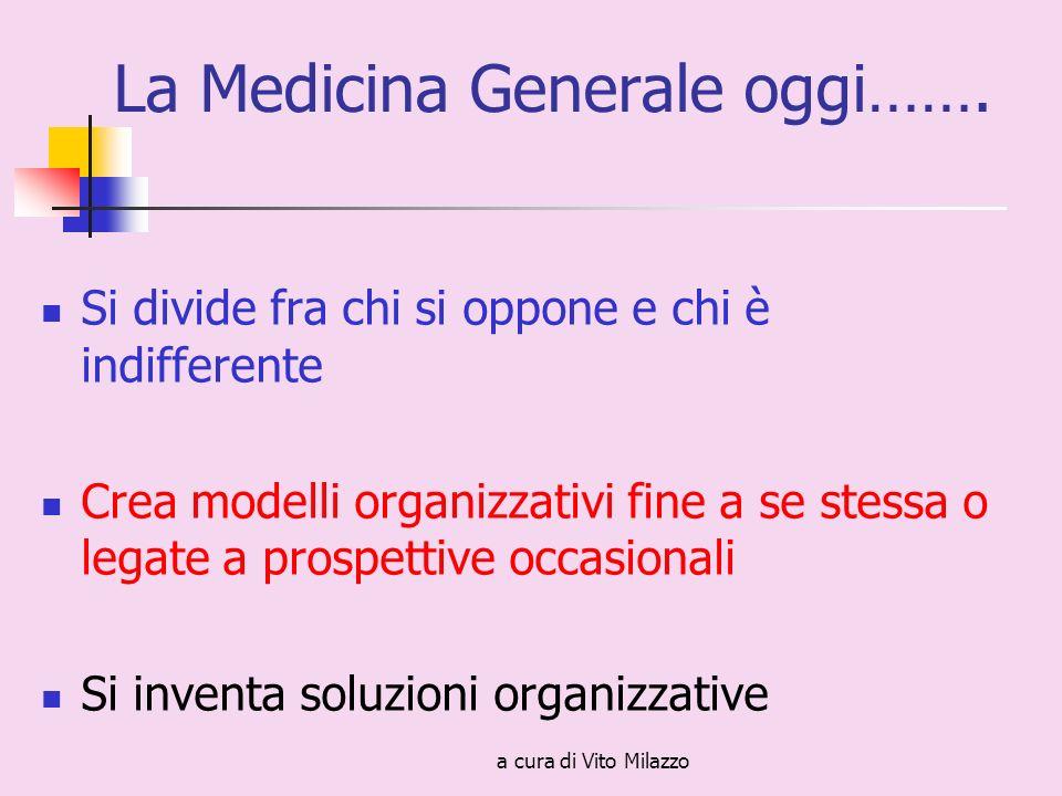 a cura di Vito Milazzo La Medicina Generale oggi…….