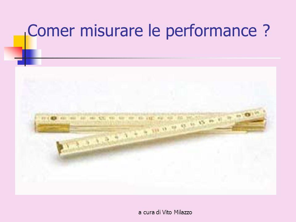 a cura di Vito Milazzo Comer misurare le performance ?