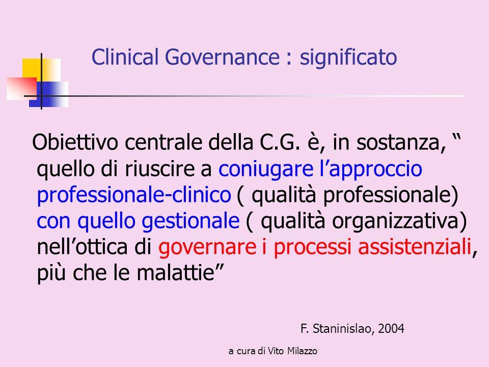 a cura di Vito Milazzo Obiettivo centrale della C.G.