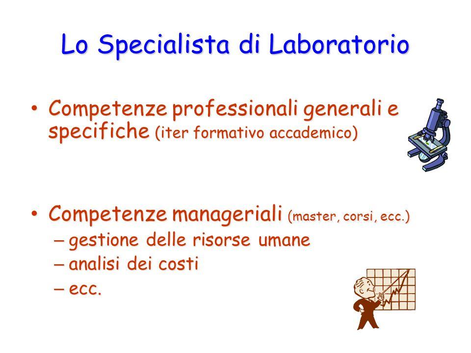 Lo Specialista di Laboratorio Competenze professionali generali e specifiche (iter formativo accademico) Competenze professionali generali e specifich