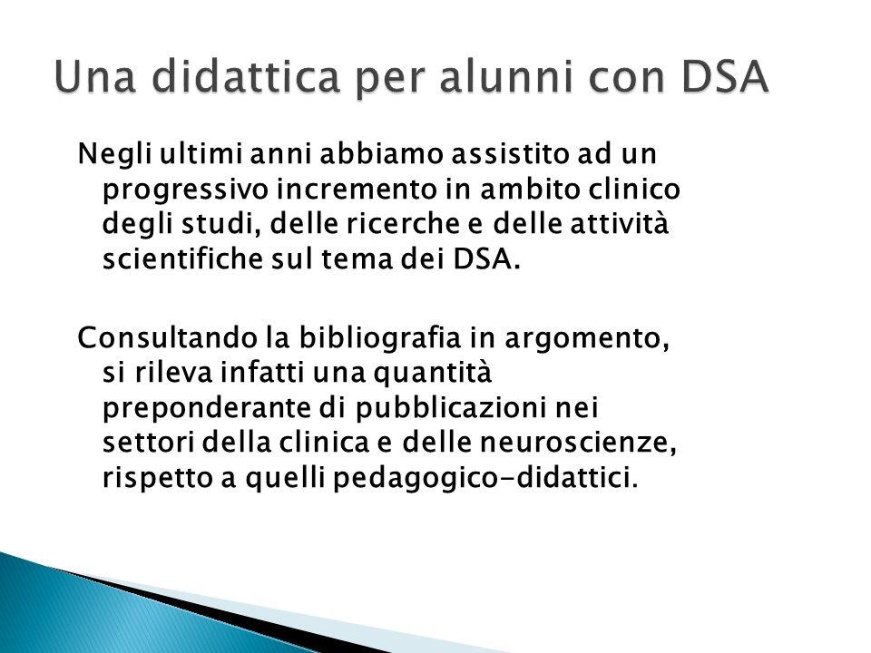 Negli ultimi anni abbiamo assistito ad un progressivo incremento in ambito clinico degli studi, delle ricerche e delle attività scientifiche sul tema dei DSA.