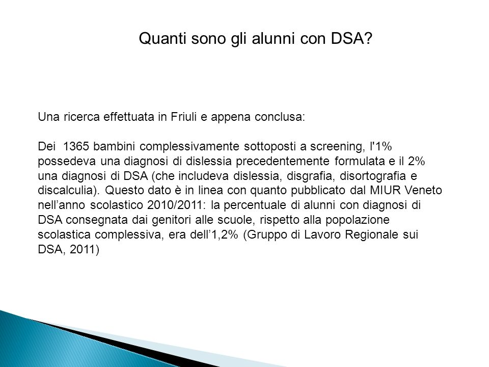 Quanti sono gli alunni con DSA.