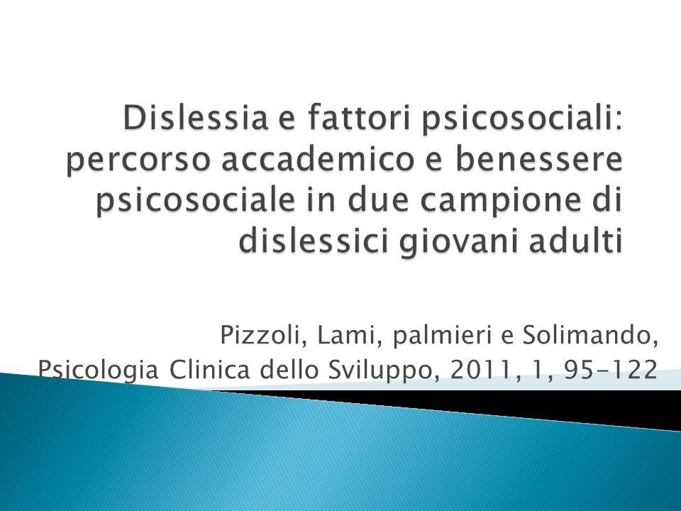 Pizzoli, Lami, palmieri e Solimando, Psicologia Clinica dello Sviluppo, 2011, 1, 95-122