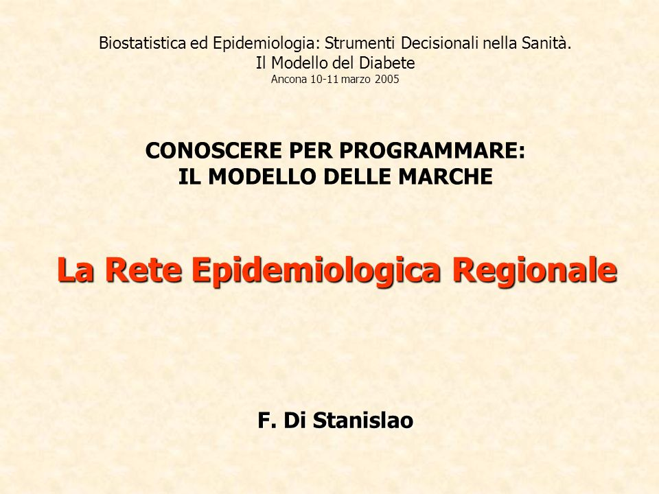 Biostatistica ed Epidemiologia: Strumenti Decisionali nella Sanità.