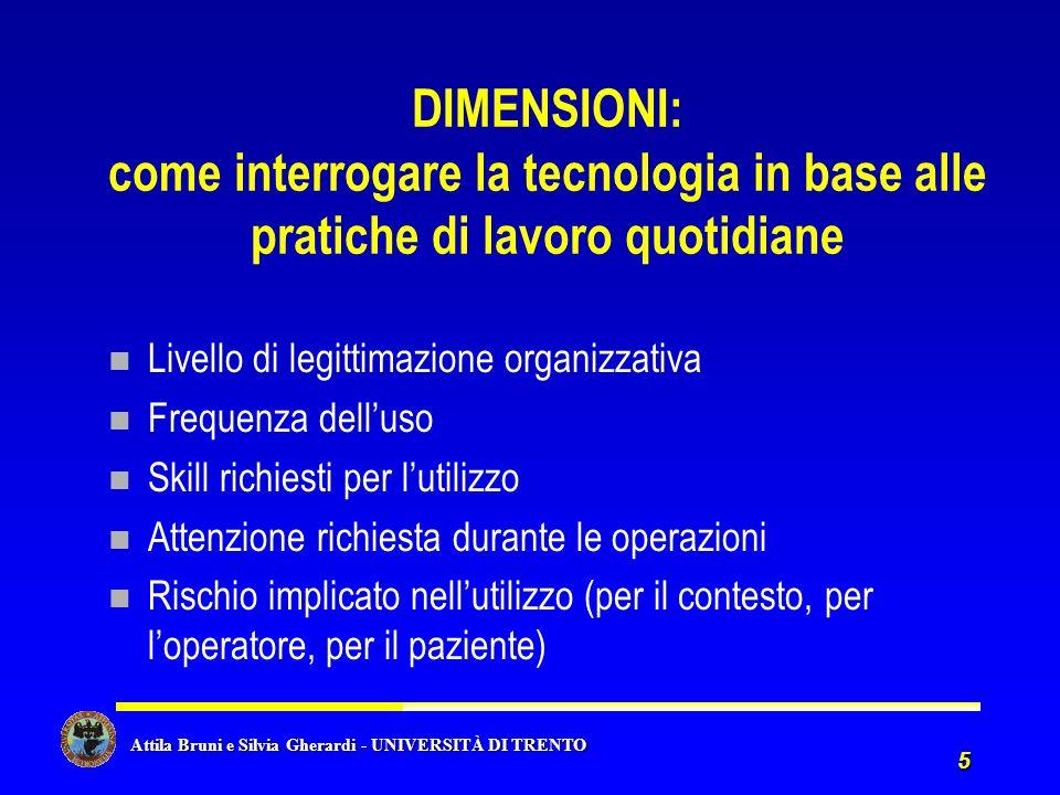 Attila Bruni e Silvia Gherardi - UNIVERSITÀ DI TRENTO Attila Bruni e Silvia Gherardi - UNIVERSITÀ DI TRENTO 5 DIMENSIONI: come interrogare la tecnolog
