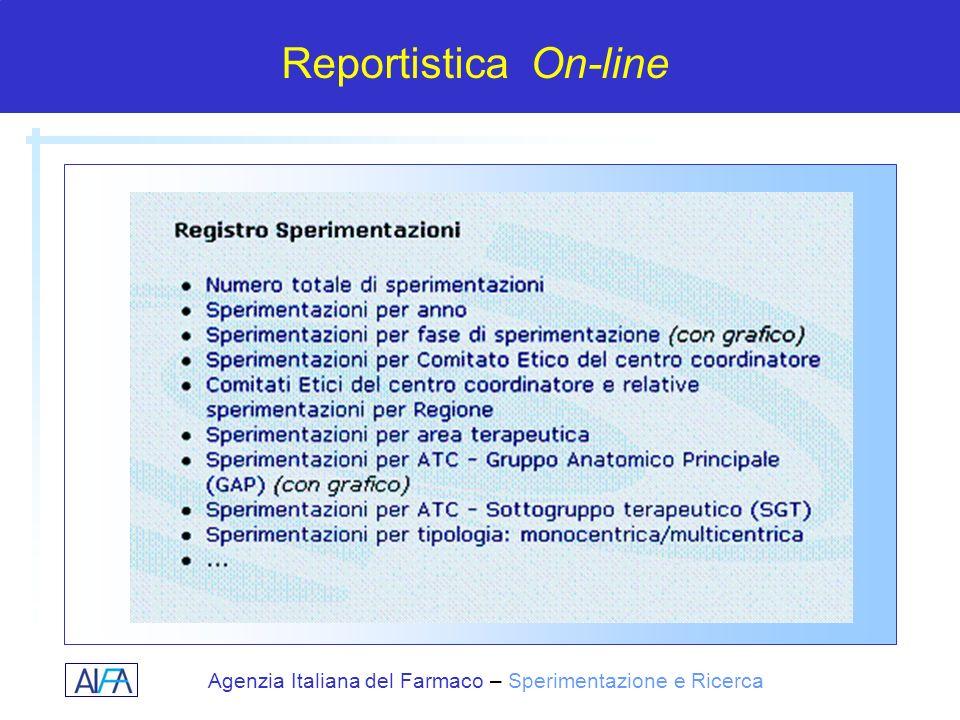 Agenzia Italiana del Farmaco – Sperimentazione e Ricerca Reportistica On-line