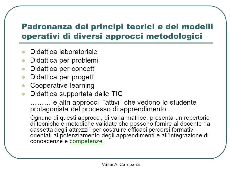 Valter A. Campana Gli strumenti decisivi per il successo dellazione didattica : le competenze dei docenti e le risorse strutturali e strumentali della