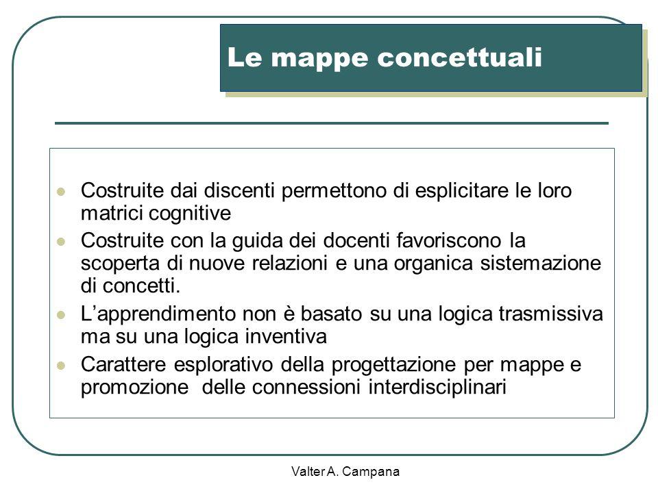 Valter A. Campana La didattica per concetti La diffusione di questa strategia si deve alle ricerche e agli studi di Novak e Gowin ad una loro pubblica