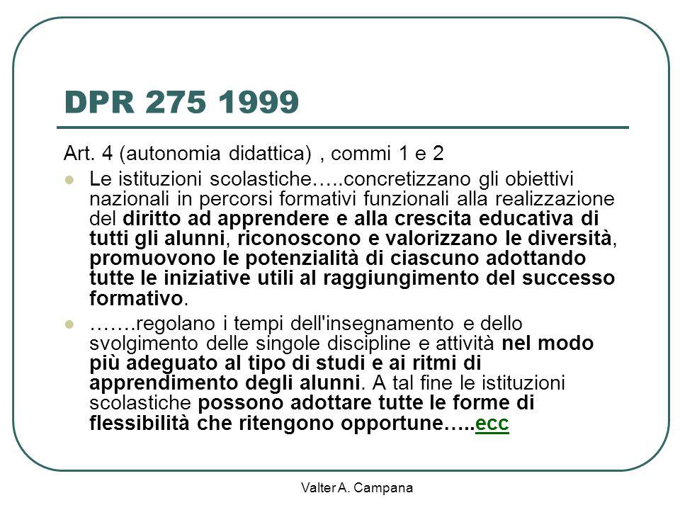 Valter A. Campana La differenziazione metodologica per potenziare apprendimenti e sviluppare competenze Formazione neodocenti 2012/13 ITIS Giua Caglia