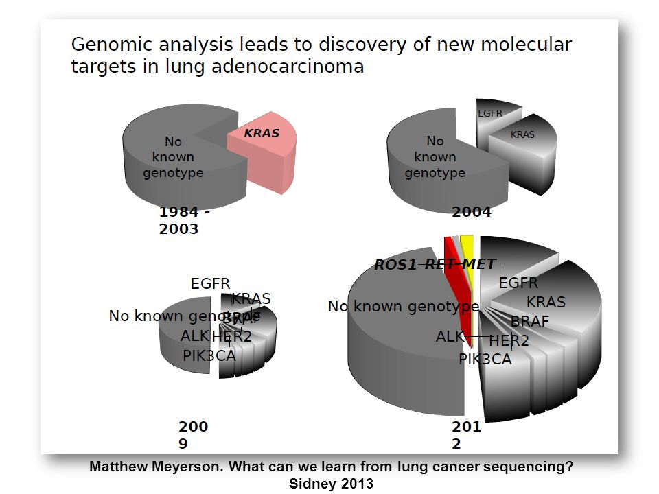 Matthew Meyerson. What can we learn from lung cancer sequencing? Sidney 2013