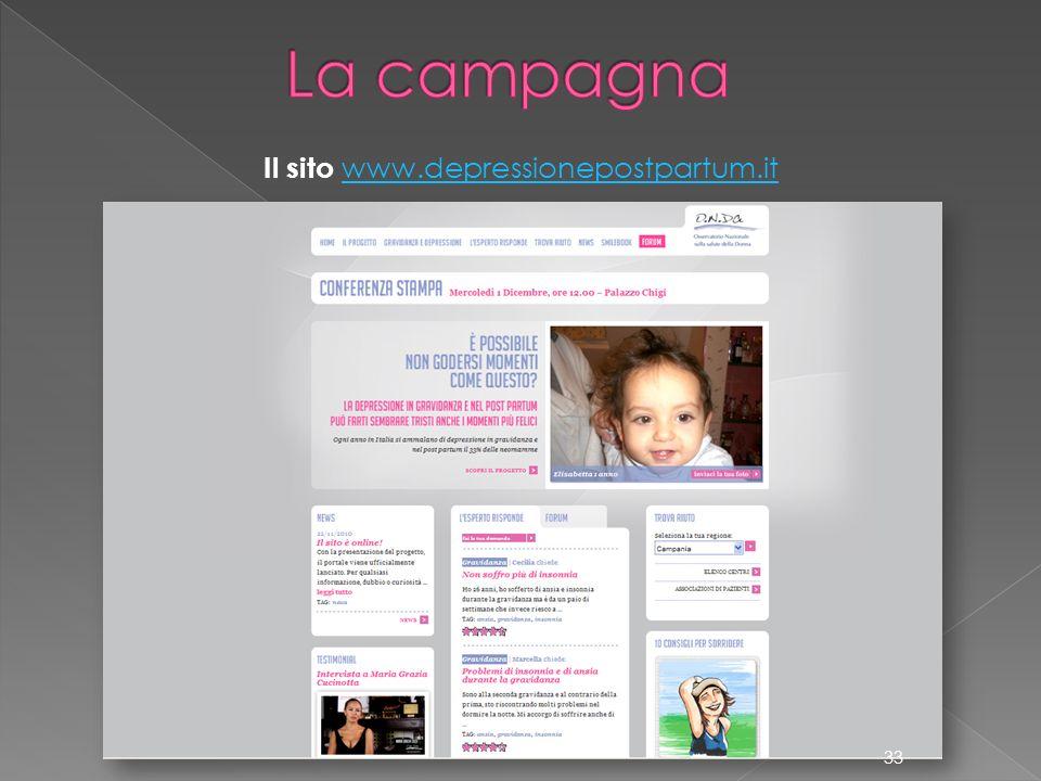 Il sito www.depressionepostpartum.it www.depressionepostpartum.it 33