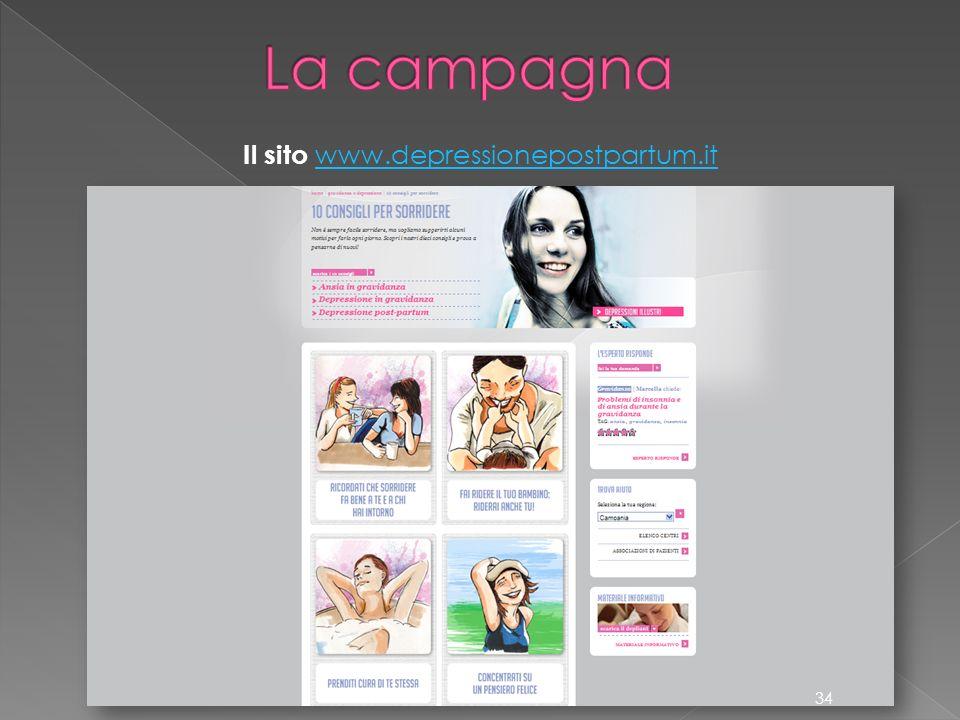 Il sito www.depressionepostpartum.it www.depressionepostpartum.it 34