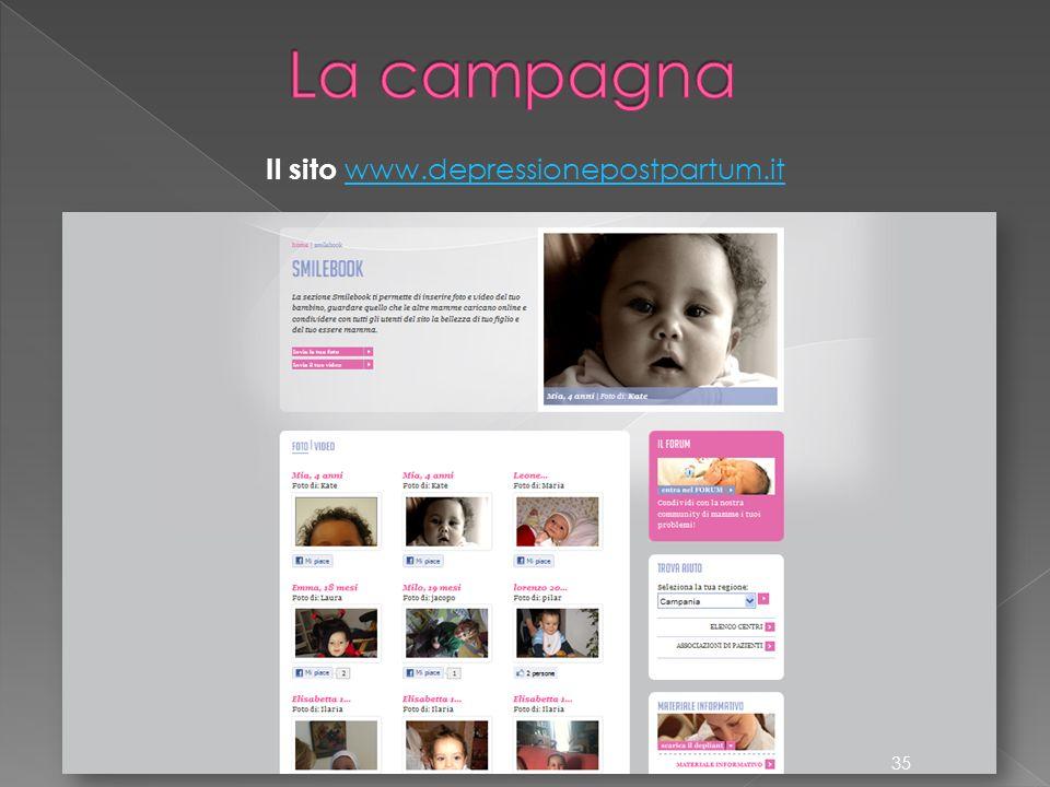 Il sito www.depressionepostpartum.it www.depressionepostpartum.it 35