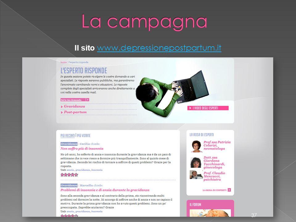 Il sito www.depressionepostpartum.it www.depressionepostpartum.it 37