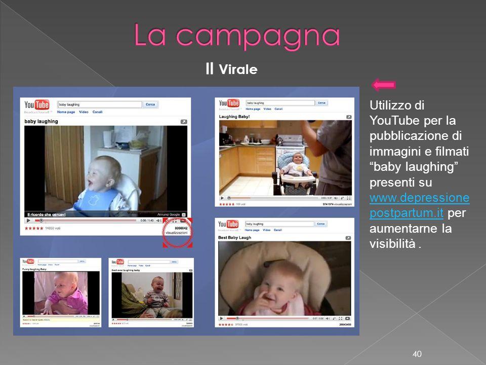 Utilizzo di YouTube per la pubblicazione di immagini e filmati baby laughing presenti su www.depressione postpartum.itwww.depressione postpartum.it pe