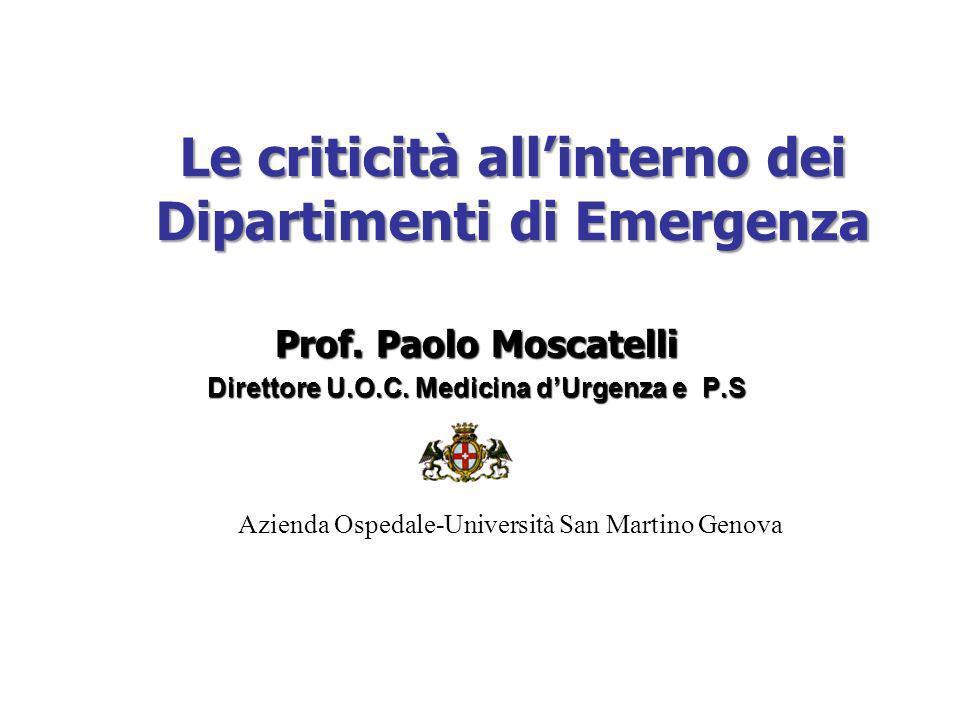 Prof.Paolo Moscatelli Direttore U.O.C.