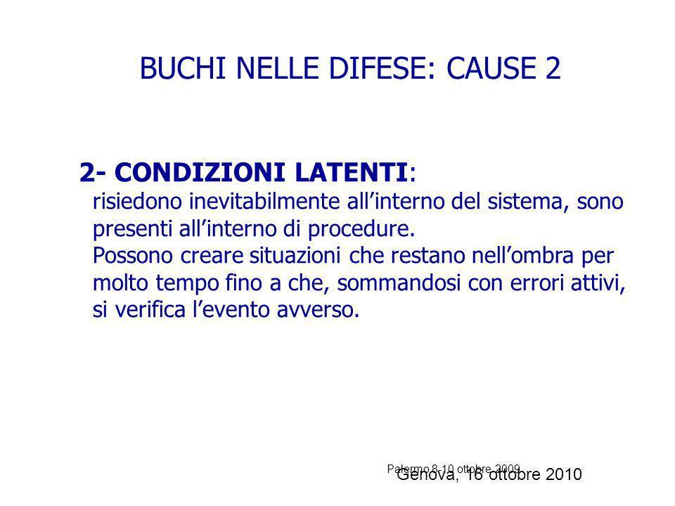 Palermo 8-10 ottobre 2009 Distrazioni o errori (slips): la pianificazione è valida, ma lesecuzione è carente, sono errori nelle attività routinarie Fa
