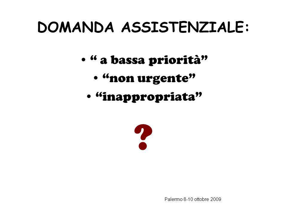 Palermo 8-10 ottobre 2009 RISCHIO CLINICO AL TRIAGE Violazioni di regole stabilite Insufficienza delle regole presenti Errori nella valutazione e nel