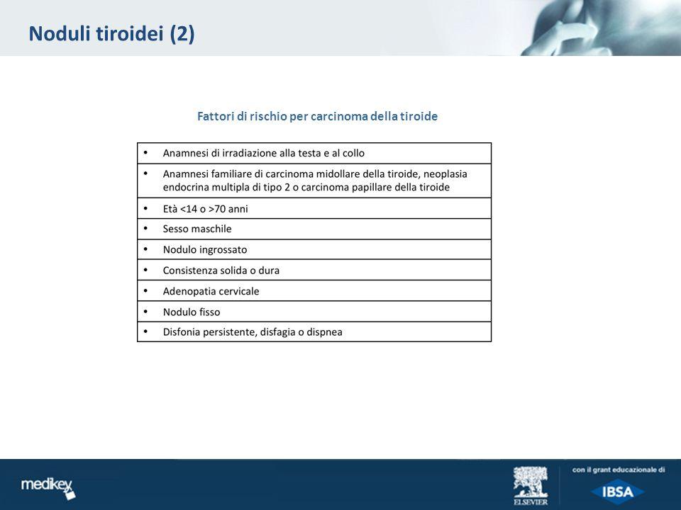 Noduli tiroidei (2) Fattori di rischio per carcinoma della tiroide