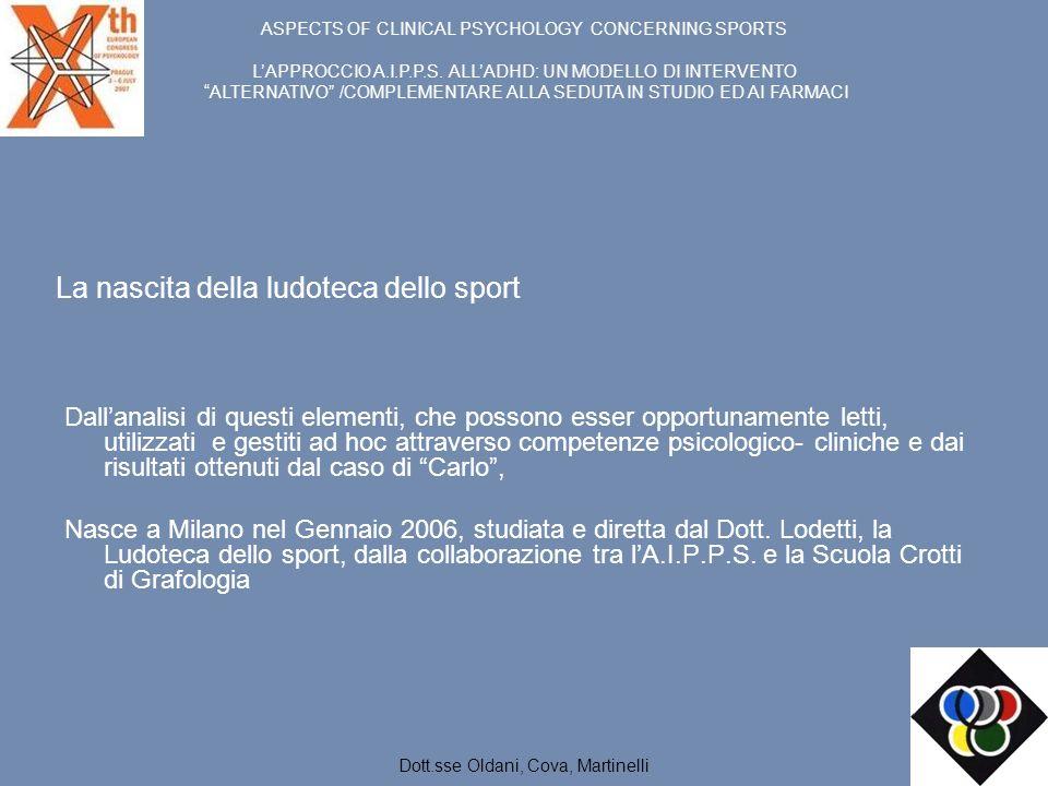 La nascita della ludoteca dello sport Dallanalisi di questi elementi, che possono esser opportunamente letti, utilizzati e gestiti ad hoc attraverso c