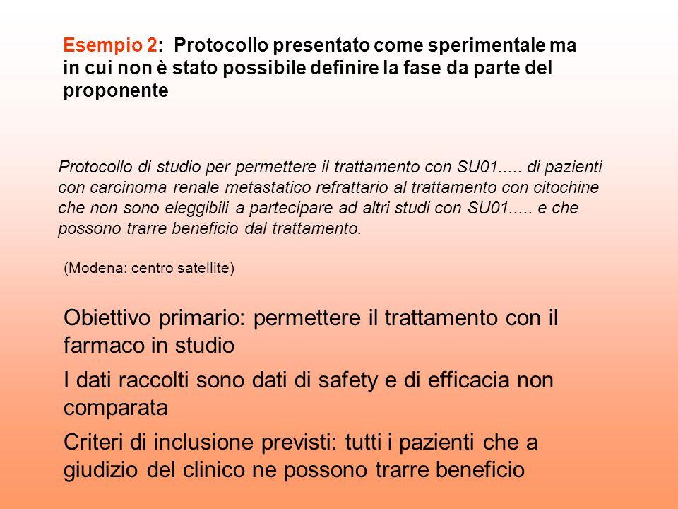 Protocollo di studio per permettere il trattamento con SU01..... di pazienti con carcinoma renale metastatico refrattario al trattamento con citochine