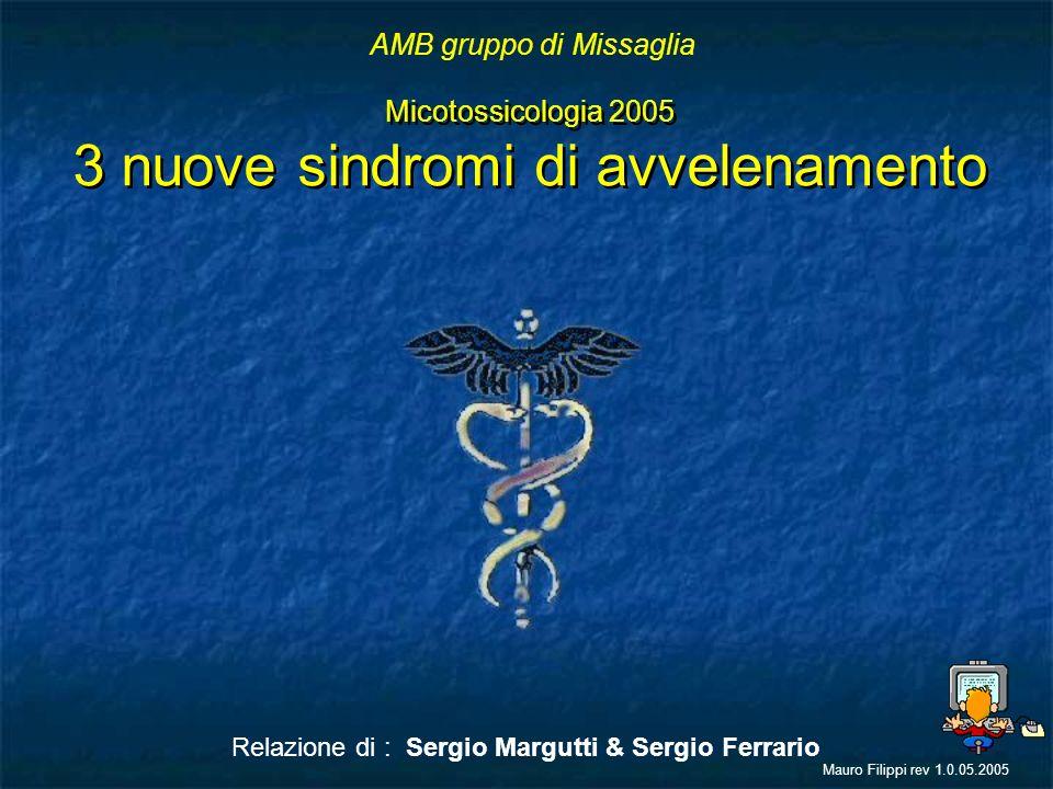 Micotossicologia 2005 3 nuove sindromi di avvelenamento Micotossicologia 2005 3 nuove sindromi di avvelenamento Relazione di : Sergio Margutti & Sergi