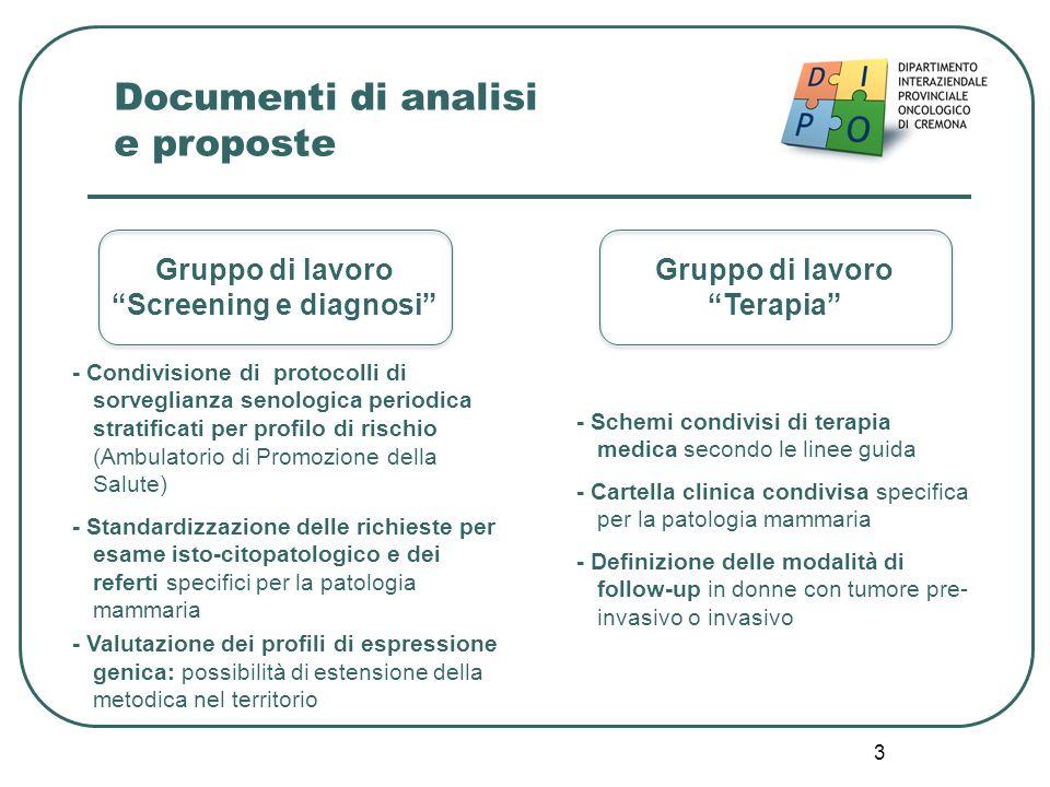 3 - Condivisione di protocolli di sorveglianza senologica periodica stratificati per profilo di rischio (Ambulatorio di Promozione della Salute) - Sta