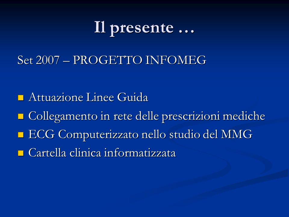 Il presente … Set 2007 – PROGETTO INFOMEG Attuazione Linee Guida Attuazione Linee Guida Collegamento in rete delle prescrizioni mediche Collegamento i