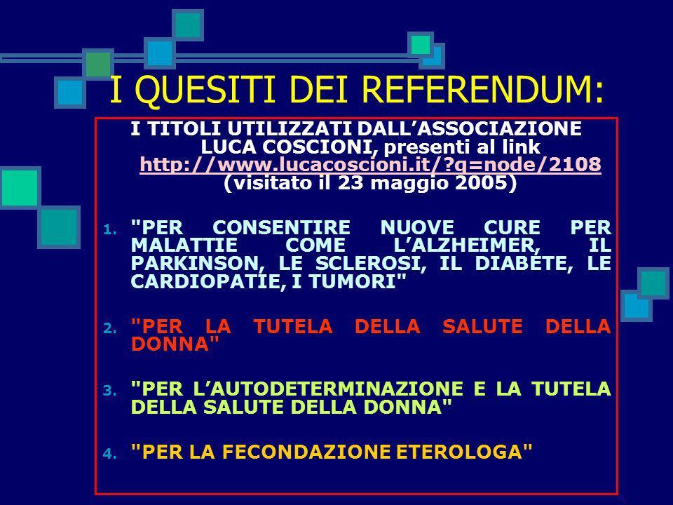 PRECISAZIONI PRELIMINARI: Referendum abrogativo: strumento con cui il corpo elettorale può incidere direttamente sullordinamento giuridico dello Stato
